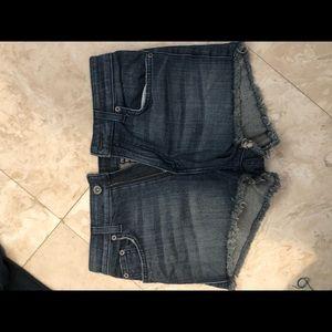 Size 26 dark wash Carmar Jean shorts